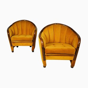 Italian Lounge Chairs in the Style of Gio Ponti, 1950s, Set of 2