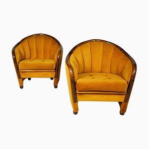 Italienische Sessel im Stile von Gio Ponti, 1950er, 2er Set