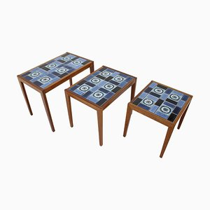 Tables Gigognes en Céramique, 1960s