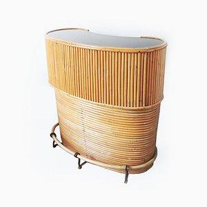 Mobile bar Tiki vintage in bambù, anni '60