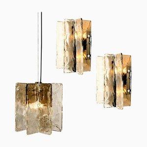 Murano Glas Wandleuchten von Carlo Nason für Mazzega, 2er Set