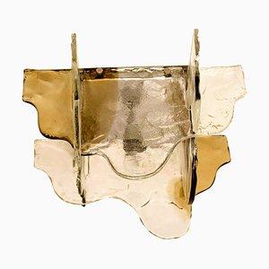 Lampada da parete in vetro di Murano di Carlo Nason per Mazzega, anni '60