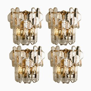 Palazzo Wall Light in Gilt Brass and Glass by J.T. Kalmar