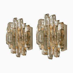 Glass Wall Sconces by J.T. Kalmar, Set of 2