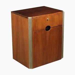 Tanganyika Walnut Veneer & Metal Cabinet by Luigi Caccia Dominioni, 1960s