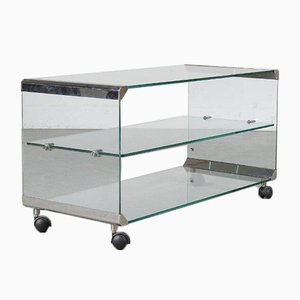 Glass Trolley from Gallotti & Radice, Italy, 1970s