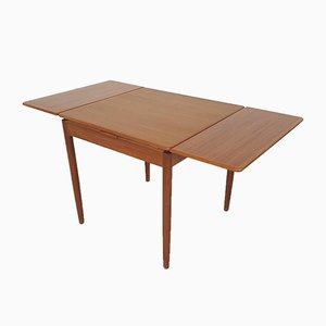 Teak Square Extendable Dining Table, The Netherlands, 1960s