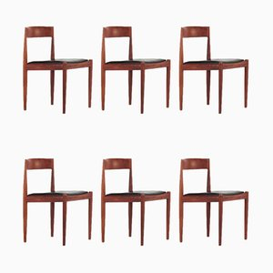 Model 4110 Chairs by Kai Kristiansen for Fritz Hansen, 1960s, Set of 6