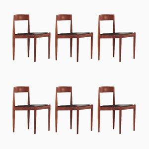 Modell 4110 Stühle von Kai Kristiansen für Fritz Hansen, 1960er, 6er Set