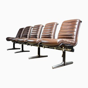 Vintage Conference Room Leather Chairs from Nato Headquarters