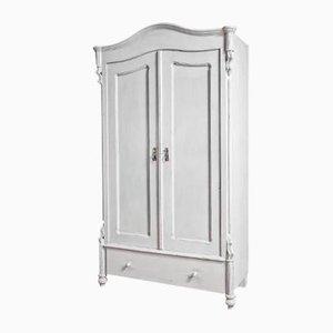 2-Door Grey Wardrobe, 1900s