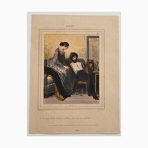 Paul Gavarni - Clichy - Original Lithographie - Mitte 19. Jahrhundert