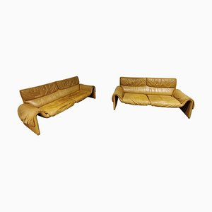 2-Seater Model DS 2011 Sofas from De Sede, 1980s, Set of 2