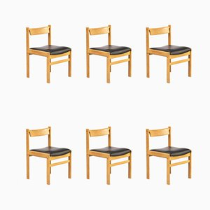 Oak Dining Chairs from Bramin, 1970s, Set of 6