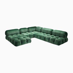 Modulares Camaleonda Sofa aus Pierre Frey Grün von Mario Bellini für B & B Italia / C & B Italia, 1970er, 12er Set