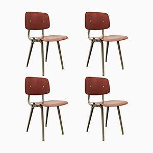 Revolt Stühle von Friso Kramer für Ahrend de Cirkel, 1953, 4er Set