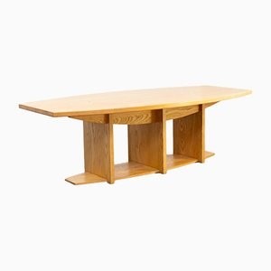 Architectural Ash Dining Table, 1980s