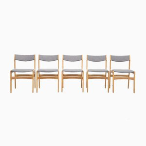 Danish Oak Dining Chairs by Erik Buch for Odense Maskinsnedkeri / O.D. Møbler, 1960s, Set of 5