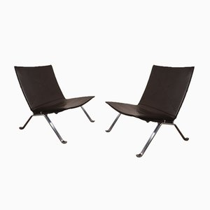 PK22 Lounge Chairs by Poul Kjærholm for Fritz Hansen, 1990s, Set of 2