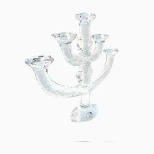Swedish Glass Candleholder by Staffan Gellerstedt for Pukeberg, 1970s