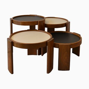 Model 780/783 Low Stacking Coffee Tables by Gianfranco Frattini for Cassina, 1966, Set of 4