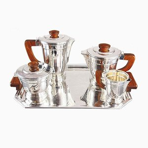 Vintage Art Deco Style Coffee Set, Set of 5