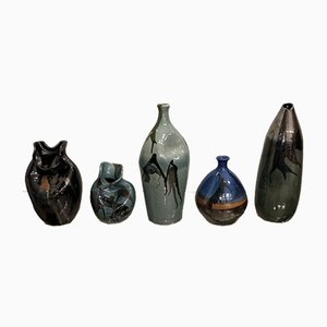 Vases by Thomas Buxo, 1960s, Set of 5