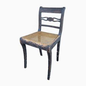 Skandinavischer Beistellstuhl aus Rattan