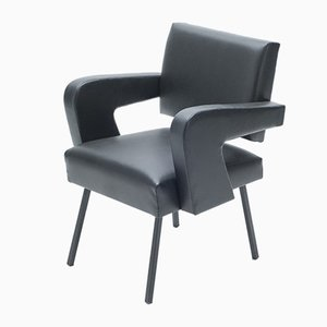 President Lounge Chair by Jacques Adnet, 1959