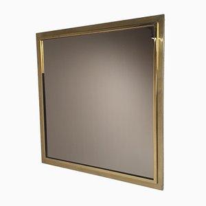 Hollywood Regency Smoked Glass Mirror from Belgo Chrome, 1970s