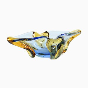 Czechoslovakian Glass Bowl by František Zemek for Skrdlovice Glass Factory, 1960s