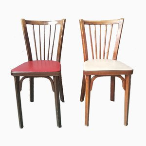 Vintage Dining Chairs from Baumann, 1950s, Set of 6