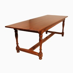 19-Century Antique Refectory Table With Turned Feet