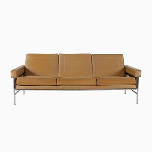 Faux Leather and Chromed Steel Sofa, 1970s