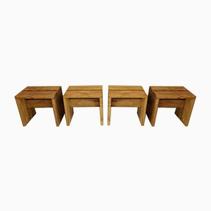 Mid-Century Benches by Charlotte Perriand for Les Arcs, Set of 4