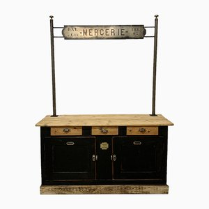 Vintage Dry Goods Counter
