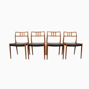 Chaises de Salon Modèle 79 par Niels O. Møller pour J.L. Møller, Set de 4