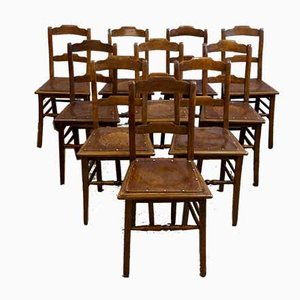 Antike Estnische Esszimmerstühle von Luterma, 1910er, 4er Set