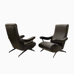 Oscar Reclining Armchairs by Nello Pini for Nuovarredo, 1959, Set of 2