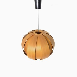 Mid-Century Wooden Ceiling Lamp, 1960s