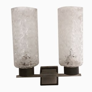 Sconce with Grey Metal Mount, 1960s