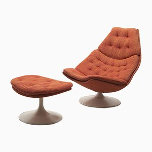 Model F588 Lounge Chair with Ottoman by Geoffrey Harcourt for Artifort, 1970s, Set of 2
