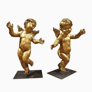 Gilden Wooden Figurines, Set of 2