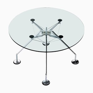 Round Nomos Dining Table by Norman Foster for Tecno, 1986