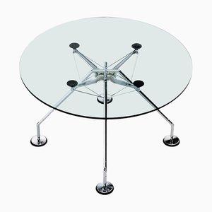 Tavolo da pranzo rotondo Nomos di Norman Foster per Tecno, 1986