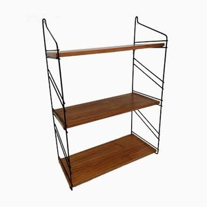 Vintage Wire & Teak Shelf from String