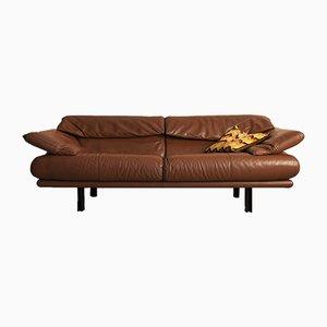 Alanda Toffee Leather Sofa by Paolo Piva for B&B Italia / C&B Italia, 1980s