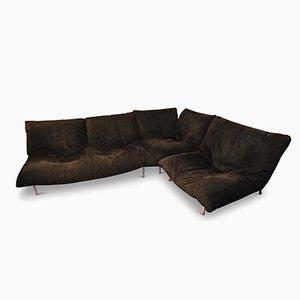 Vintage Modular Microfiber Sofa by Pascal Mourgue for Ligne Roset, Set of 4