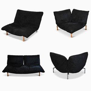 Modulares Vintage Mikrofaser Sofa von Pascal Mourgue für Ligne Roset, 4er Set