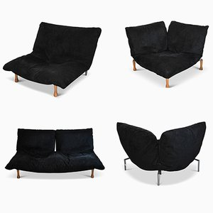Vintage Modular Microfiber Sofa by Pascal Mourgue for Ligne Roset, Set of 4